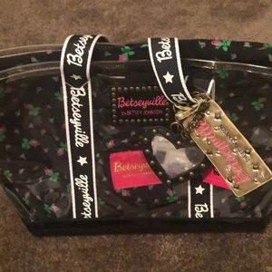 BNWT Betsey Johnson Clear Handbag